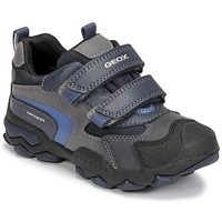 Shoes Boy Mid boots Geox BULLER ABX Marine / Grey