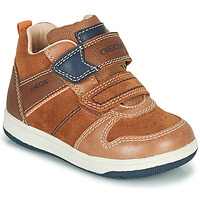 Shoes Boy Hi top trainers Geox NEW FLICK Brown