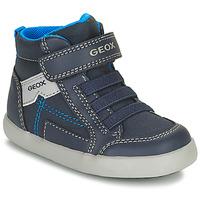 Shoes Boy Hi top trainers Geox GISLI Marine