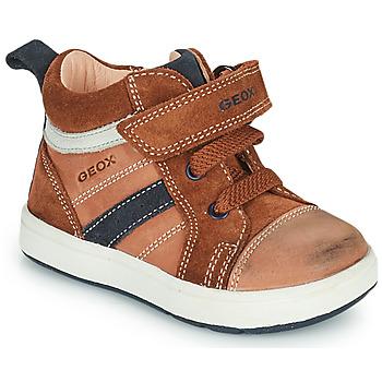 Shoes Boy Hi top trainers Geox BIGLIA Brown