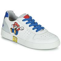 Shoes Boy Low top trainers Geox DJROCK White / Blue