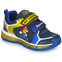 Shoes Boy Low top trainers Geox ANDROID Blue / Yellow