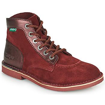 Shoes Women Mid boots Kickers ORILEGEND Bordeaux / Dark