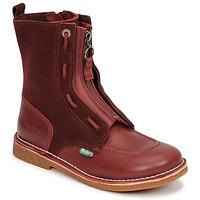 Shoes Women Mid boots Kickers MEETICKROCK Bordeaux / Dark