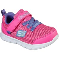 Shoes Girl Low top trainers Skechers 302107N-HPPR-230 Comfy Flex Moving On Hot Pink and Purple