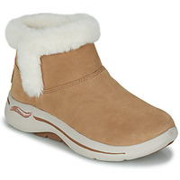 Shoes Women Mid boots Skechers GO WALK ARCH FIT Brown