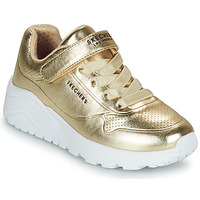 Shoes Girl Low top trainers Skechers UNO LITE Gold