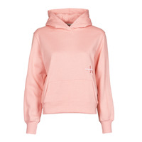 Clothing Women Sweaters Calvin Klein Jeans OFF PLACED MONOGRAM HOODIE Pink