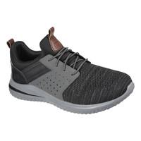 Shoes Men Low top trainers Skechers DELSON 3.0 CICADA Black / Grey
