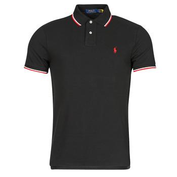 Clothing Men Short-sleeved polo shirts Polo Ralph Lauren CALMIRA Black
