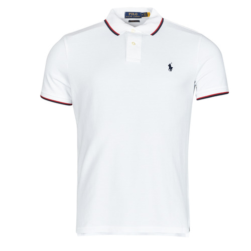 Clothing Men Short-sleeved polo shirts Polo Ralph Lauren CALMIRA White