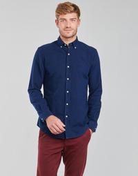 Clothing Men Long-sleeved shirts Polo Ralph Lauren TRENNYB Velvet / Blue