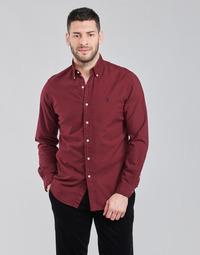 Clothing Men Long-sleeved shirts Polo Ralph Lauren KAOLMA Bordeaux