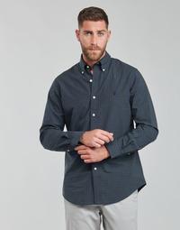 Clothing Men Long-sleeved shirts Polo Ralph Lauren RENIMA Green / Blue