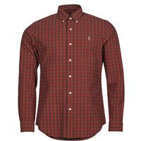 Clothing Men Long-sleeved shirts Polo Ralph Lauren TALIKA Red / Multicolour