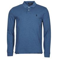 Clothing Men Long-sleeved polo shirts Polo Ralph Lauren KETINA Blue / Royal