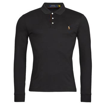 Clothing Men Long-sleeved polo shirts Polo Ralph Lauren PERINA Black