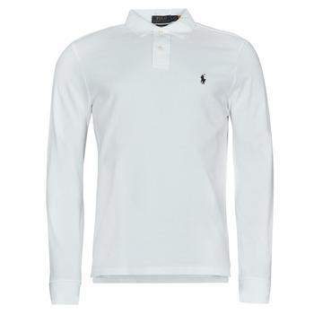 Clothing Men Long-sleeved polo shirts Polo Ralph Lauren GIULIA White