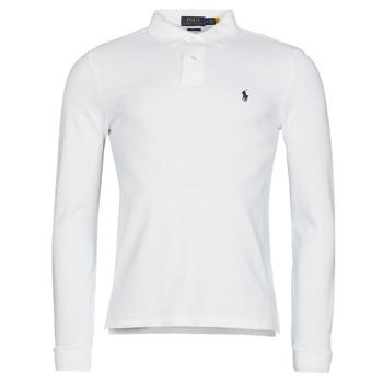 Clothing Men Long-sleeved polo shirts Polo Ralph Lauren TREKINA White