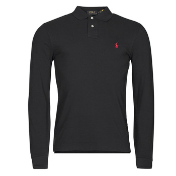 Clothing Men Long-sleeved polo shirts Polo Ralph Lauren TREKINA Black