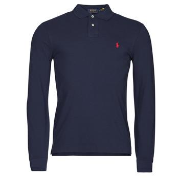 Clothing Men Long-sleeved polo shirts Polo Ralph Lauren TREKINA Blue