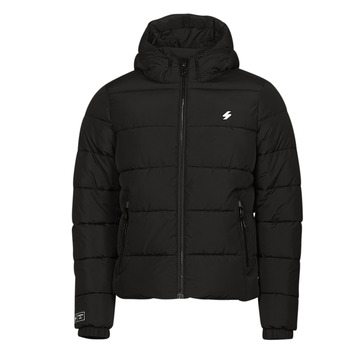 Clothing Men Duffel coats Superdry HOODED SPORTS PUFFER Black