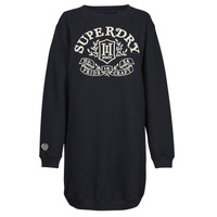 Clothing Women Short Dresses Superdry PRIDE IN CRAFT OS CREW DRESS Blue