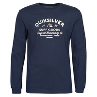 Clothing Men Long sleeved tee-shirts Quiksilver CLOSED CAPTION LS Blue / Marine