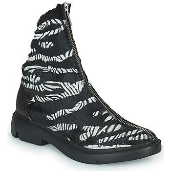 Shoes Women Mid boots Papucei KAEL Black / White