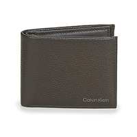 Bags Men Wallets Calvin Klein Jeans WARMTH BIFOLD 5CC W/COIN Brown