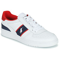 Shoes Low top trainers Polo Ralph Lauren POLO COURT White / Marine / Red