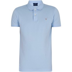 Clothing Men Short-sleeved polo shirts Gant Slim Pique Rugger Slim Polo Shirt blue