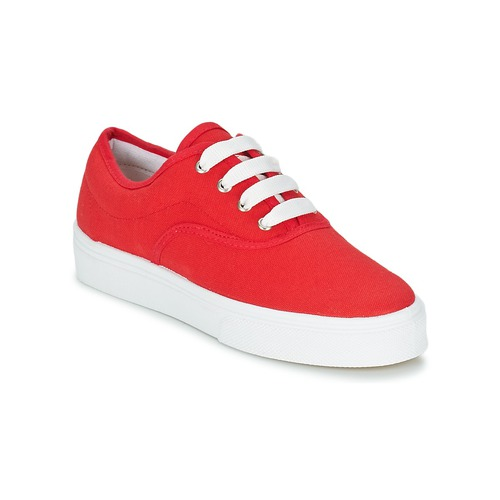 Shoes Women Low top trainers Yurban PLUO Red