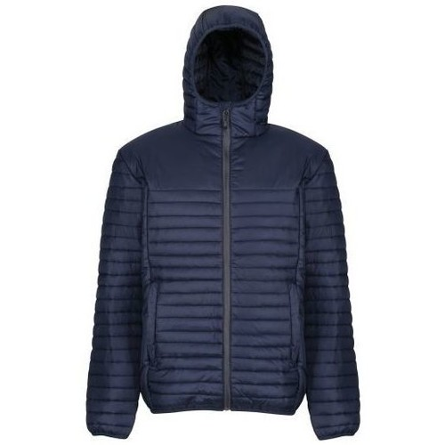 Clothing Men Duffel coats Professional Men's Honestly Made 100% Recycled Insulated Hooded Jacket Blue