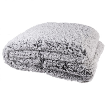 Home Blankets, throws The home deco factory SHERPA Grey