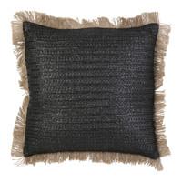 Home Cushions The home deco factory RAPHIA Black beige