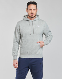 Clothing Men Sweaters Nike NIKE SPORTSWEAR CLUB FLEECE Grey / White