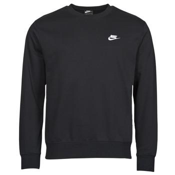 Clothing Men Sweaters Nike NIKE SPORTSWEAR CLUB FLEECE Black / White