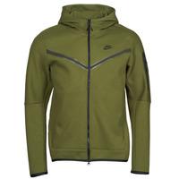 Clothing Men Track tops Nike NIKE SPORTSWEAR TECH FLEECE Green / Black