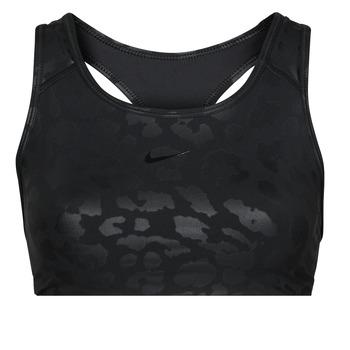 Clothing Women Sport bras Nike W NP DF SWSH LEPARD SHINE BRA Black