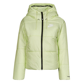 Clothing Women Duffel coats Nike W NSW TF RPL CLASSIC TAPE JKT Green / Black / White