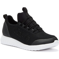 Shoes Women Low top trainers Calvin Klein Jeans Runner Mesh Womens Black Trainers Black