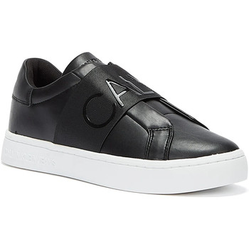 Shoes Women Low top trainers Calvin Klein Jeans Cupsole Elasticated Womens Black Trainers Black