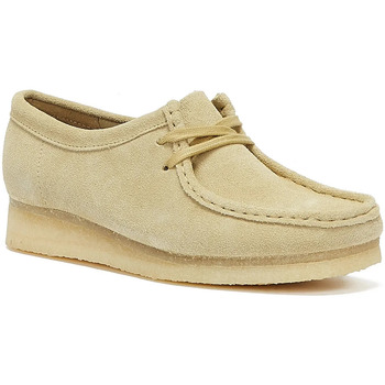 Shoes Women Loafers Clarks Wallabee Suede Womens Beige Shoes Beige