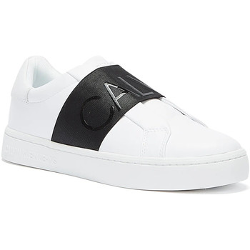 Shoes Women Fitness / Training Calvin Klein Jeans Cupsole Elasticated Womens White Trainers White