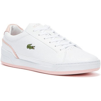 Shoes Women Low top trainers Lacoste Challenge 721 1 Womens White / Light Pink Trainers White