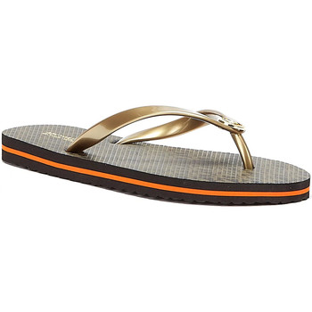 Shoes Women Flip flops MICHAEL Michael Kors Stripe Womens Brown Flip Flops Brown