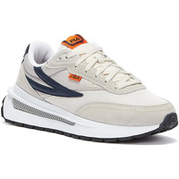 Shoes Men Fitness / Training Fila Renno Mens Grey / White / Navy Trainers Grey