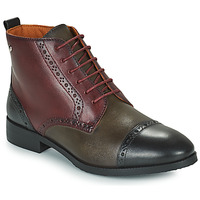 Shoes Women Mid boots Pikolinos ROYAL Bordeaux / Black / Brown