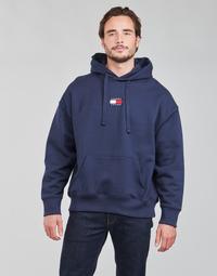 Clothing Men Sweaters Tommy Jeans TJM TOMMY BADGE HOODIE Marine